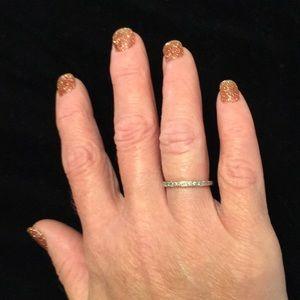 14k white gold diamond band